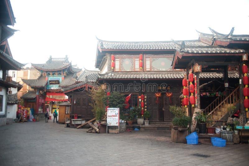 Città storica di Lijiang, sito del patrimonio mondiale dell'Unesco nel Yunnan, Ch immagini stock libere da diritti