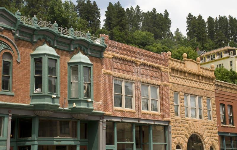 Città storica di rami secchi, il Dakota del Sud immagine stock libera da diritti