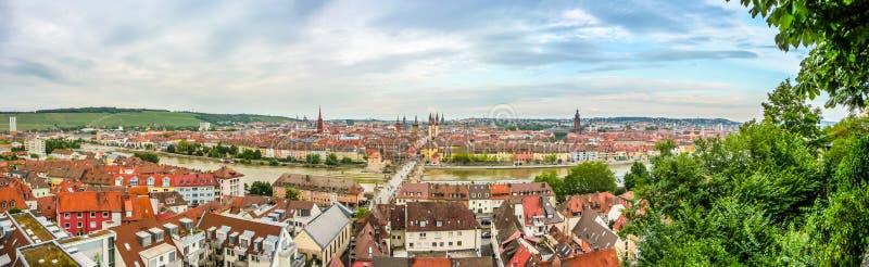 Città storica di Wurzburg, Franconia, Baviera, Germania fotografia stock libera da diritti