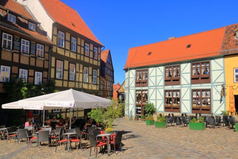 Città storica vecchia Quedlinburg, Germania immagini stock