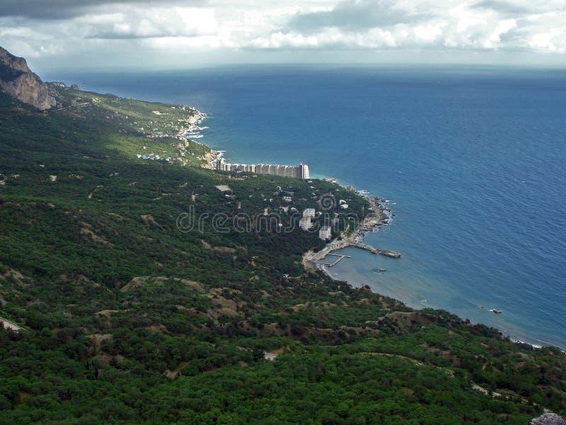 Città sulla costa di Mar Nero, Turchia di Amasra fotografia stock libera da diritti