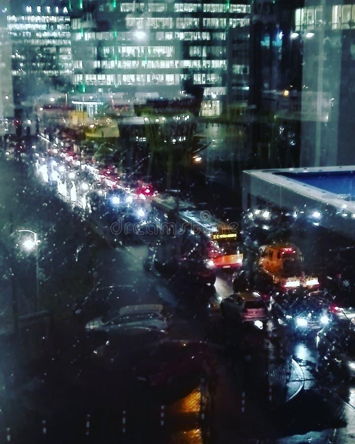 Città sulla notte immagine stock libera da diritti