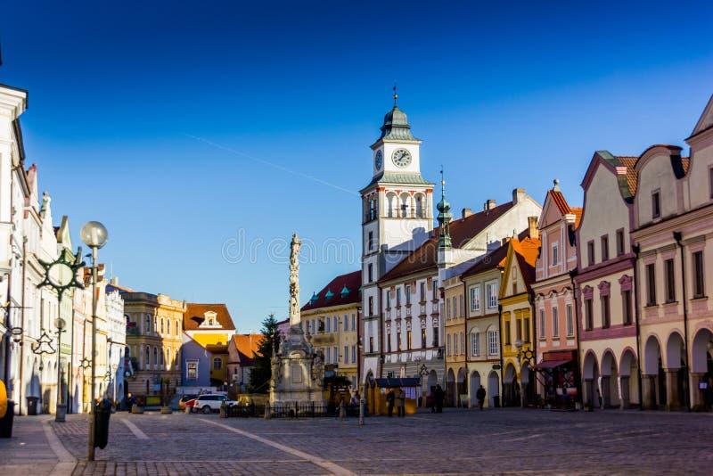 Città in Trebon, repubblica Ceca fotografie stock