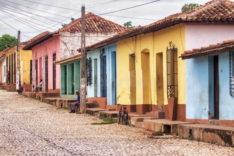 Città Trinidad, Cuba della via fotografie stock libere da diritti
