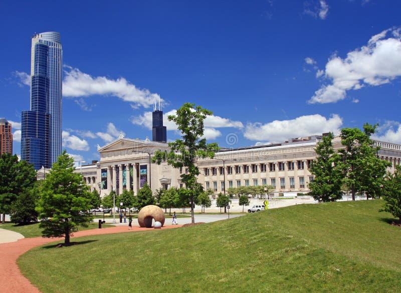 Città universitaria del museo del Chicago un giorno libero fotografie stock libere da diritti