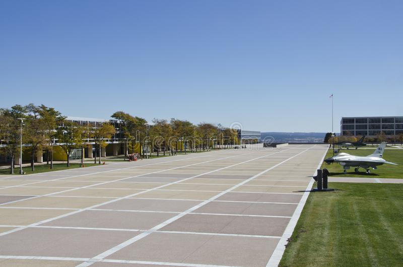 Città universitaria dell'accademia di aeronautica immagini stock libere da diritti