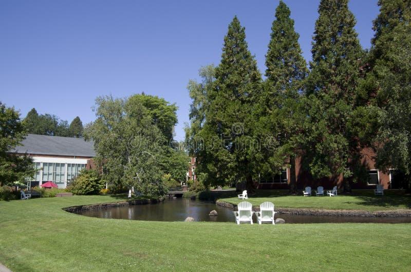 Città universitaria dell'istituto universitario dell'Oregon immagini stock