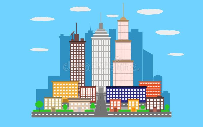 Città urbana del paesaggio di vettore fotografia stock libera da diritti