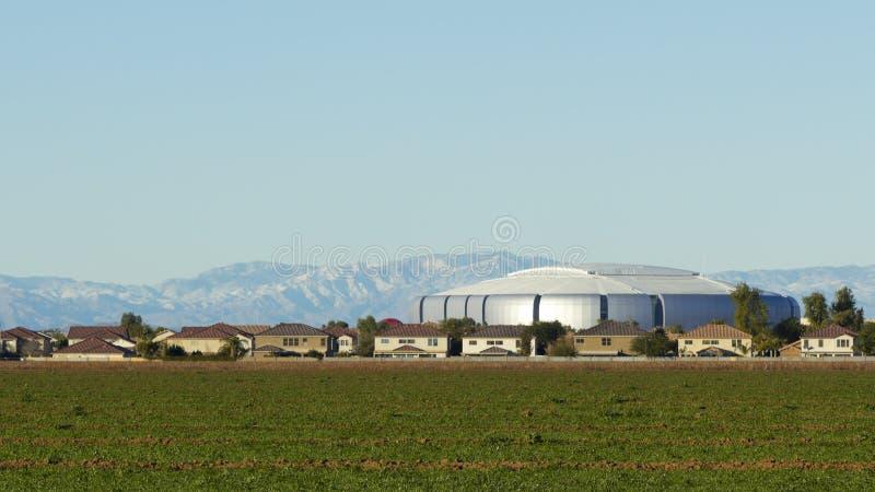 Città urbana e rurale di Peoria, AZ fotografie stock libere da diritti