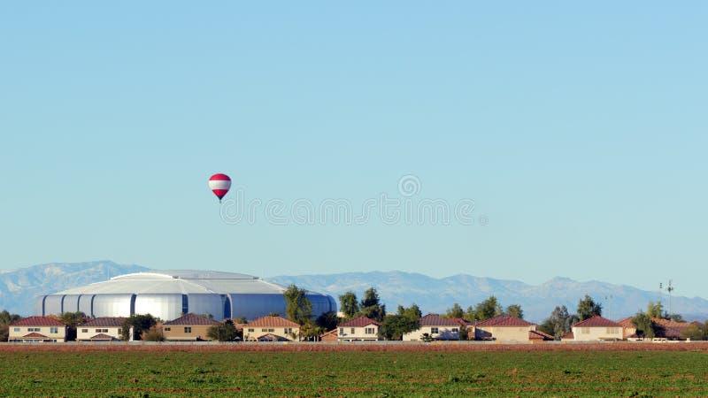 Città urbana e rurale di Peoria, AZ immagini stock libere da diritti