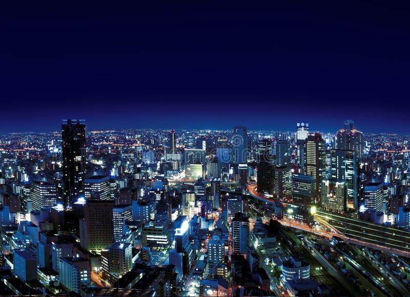 Città urbana entro Night fotografie stock libere da diritti