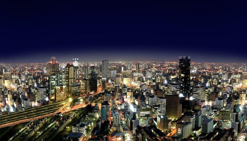 Città urbana entro Nights fotografia stock libera da diritti
