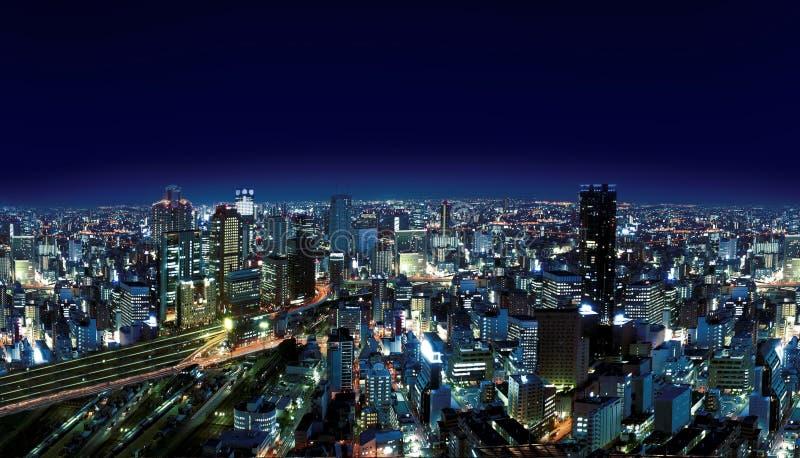 Città urbana entro Nights fotografie stock libere da diritti
