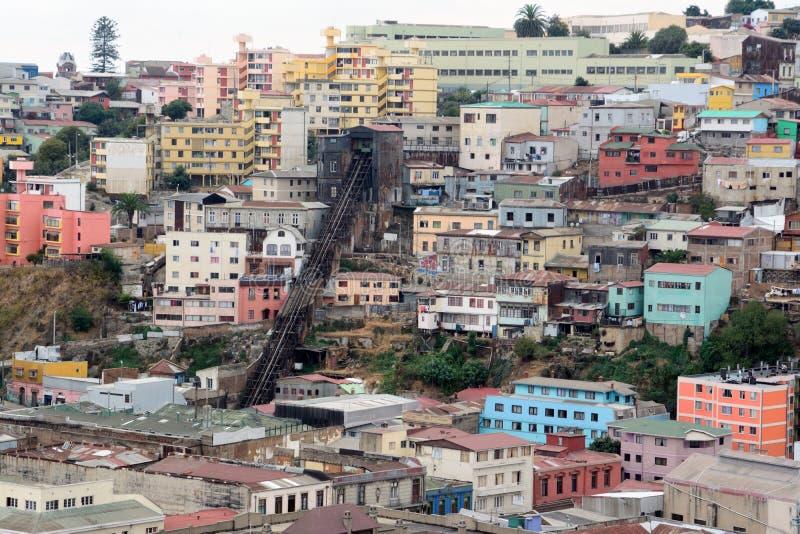 Città valparaiso, Cile fotografia stock