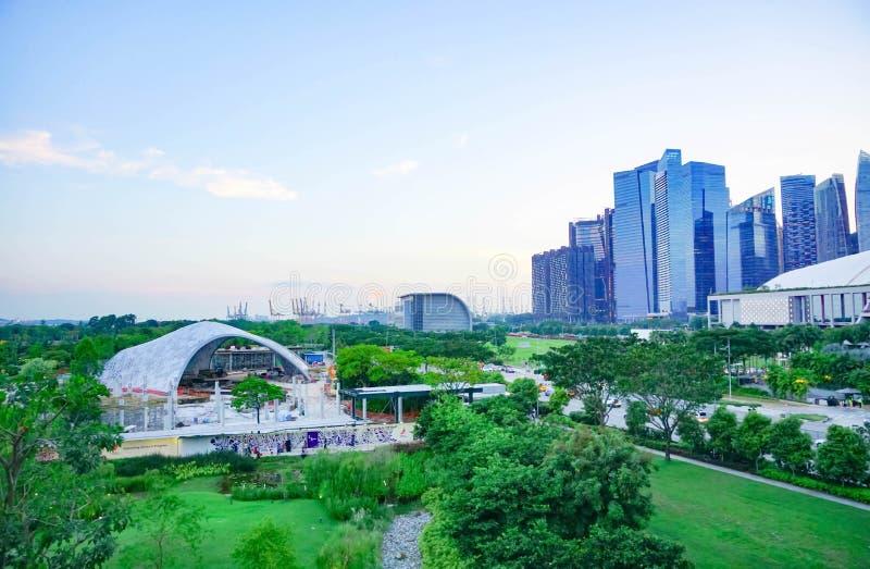 Città variopinta della costruzione a Singapore, migliore posto per viaggiare fotografie stock