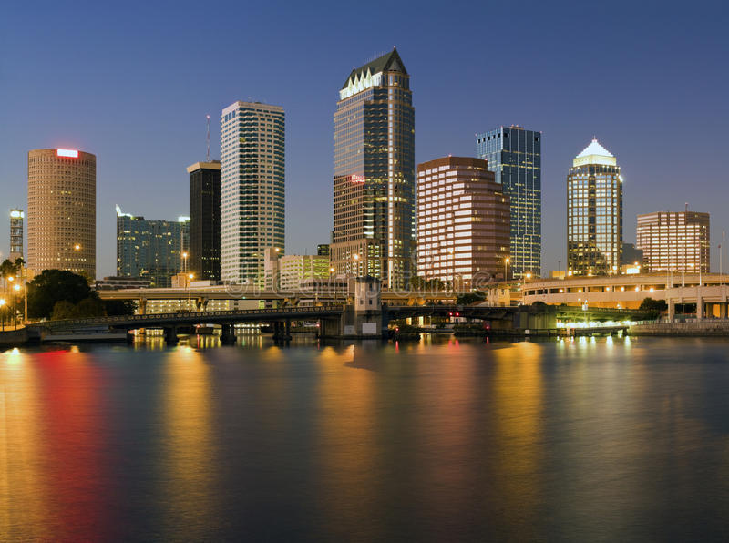 Città variopinta di Tampa fotografie stock libere da diritti
