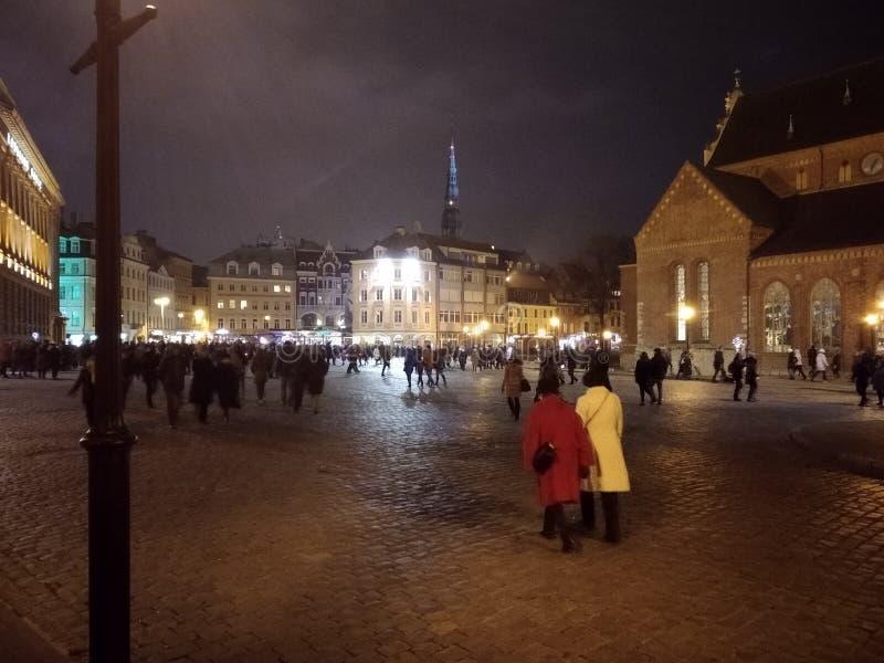 Città Vecchia è il centro storico e geografico di Riga immagini stock