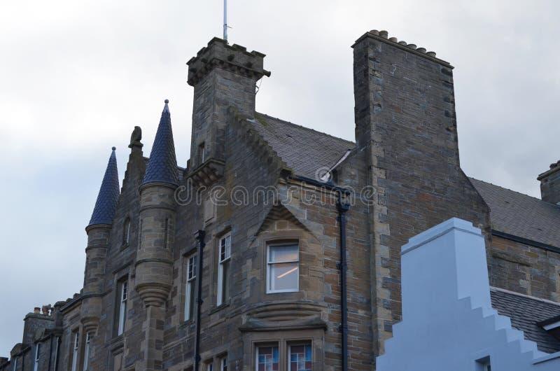 Città Vecchia Corridoio davanti alla cattedrale della st Magnus, Kirkwall, isole Orkney fotografia stock