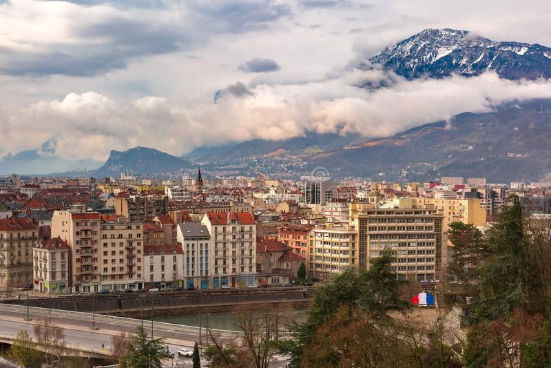 Città Vecchia di Grenoble, Francia fotografia stock
