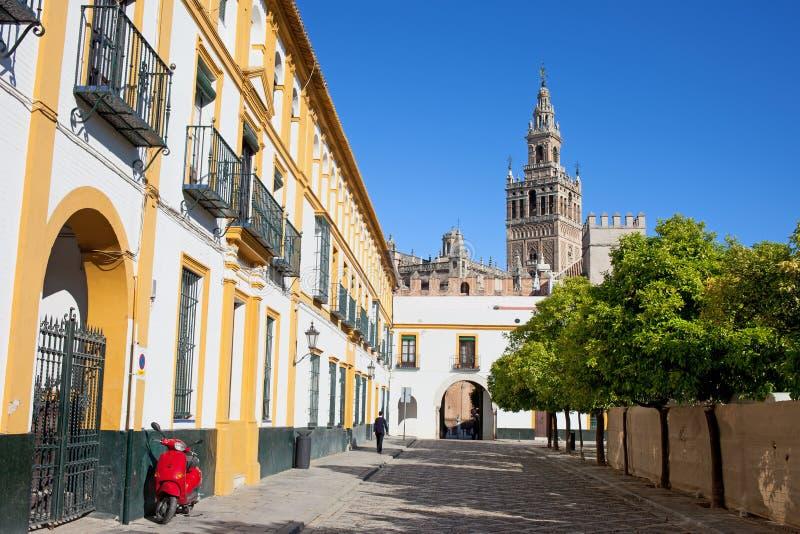 In Città Vecchia di Siviglia fotografie stock libere da diritti