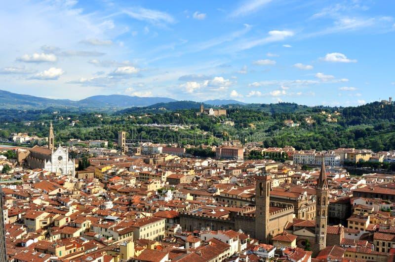 Città veduta dalla cima del duomo, Italia di Firenze immagini stock libere da diritti