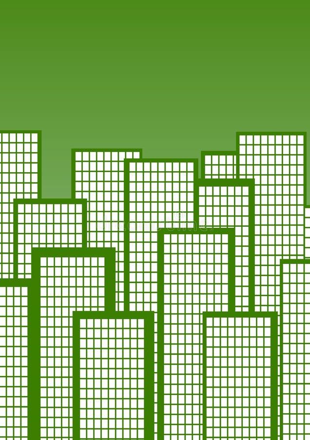 Città verde illustrazione di stock