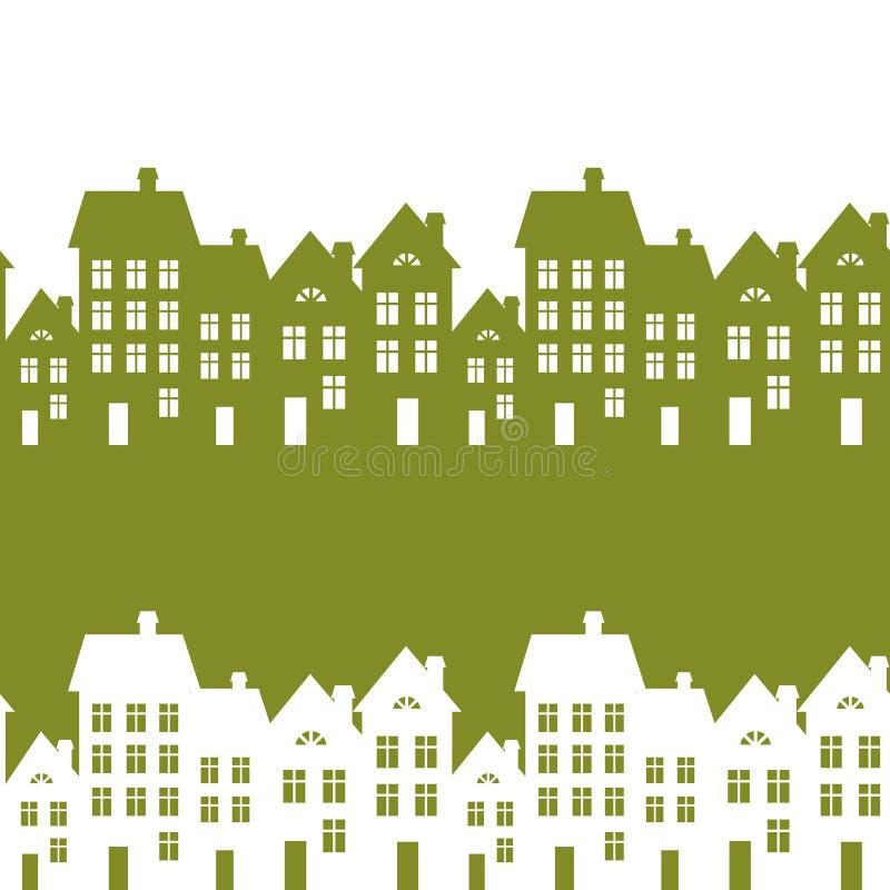 Città verde illustrazione vettoriale