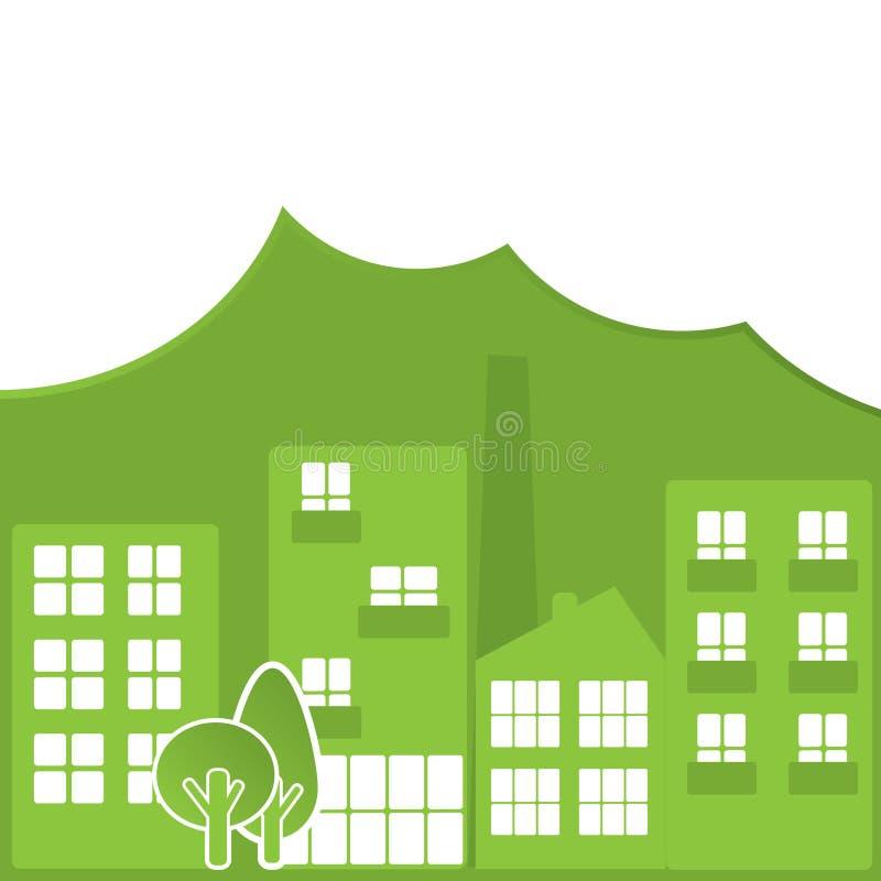 Città verde astratta illustrazione vettoriale