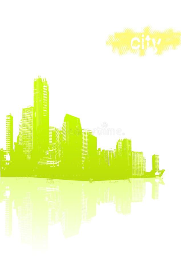Città verde chiaro illustrazione vettoriale