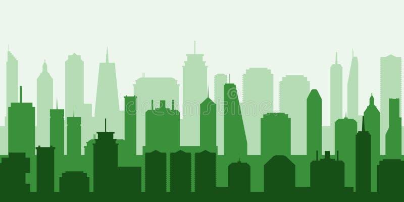 Città verde di vettore royalty illustrazione gratis