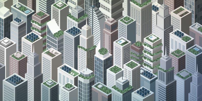 Città verde futuristica illustrazione vettoriale