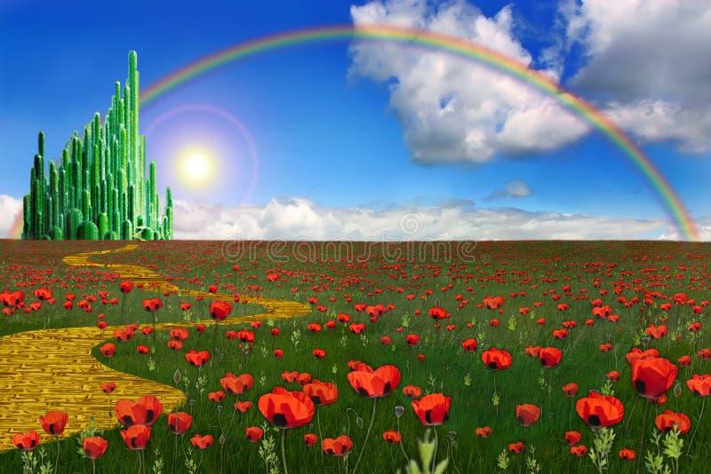 Città verde smeraldo royalty illustrazione gratis