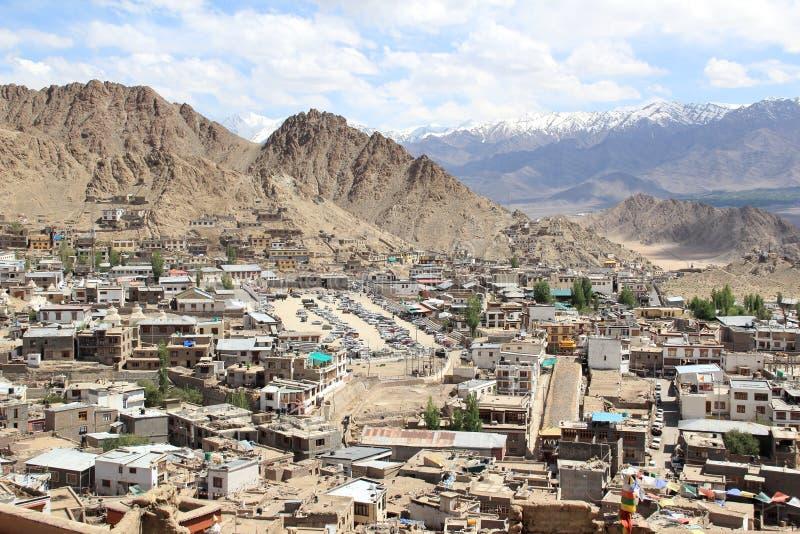 Città view-1 di Leh Ladakh fotografia stock libera da diritti