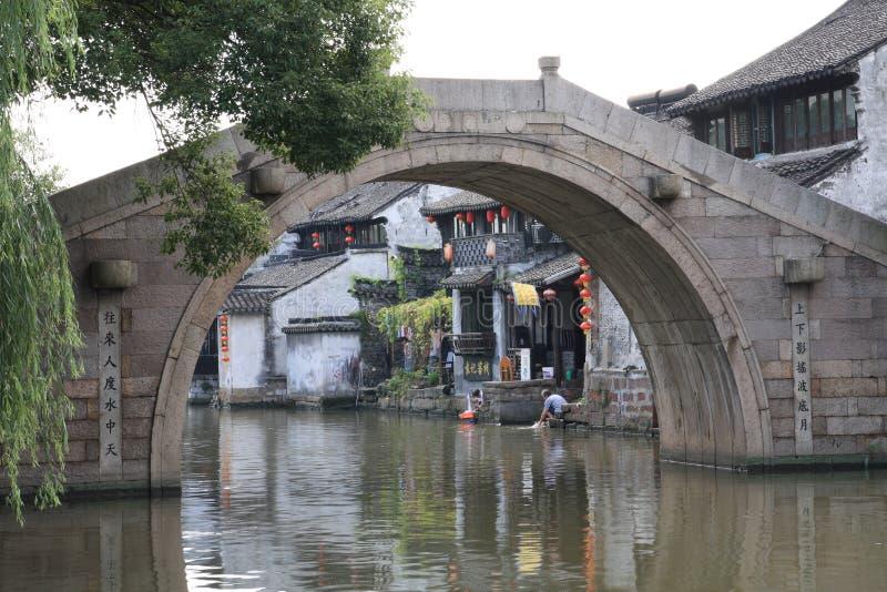 Città Xitang dell'acqua in Zhejiang della Cina fotografia stock libera da diritti