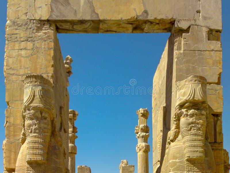 Citt? antica Persepolis- uno dei siti del patrimonio mondiale dell'Unesco a Shiraz, Iran fotografia stock libera da diritti