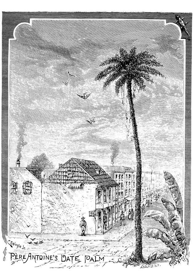 Citt? di New Orleans Illustrazione dell'incisione royalty illustrazione gratis