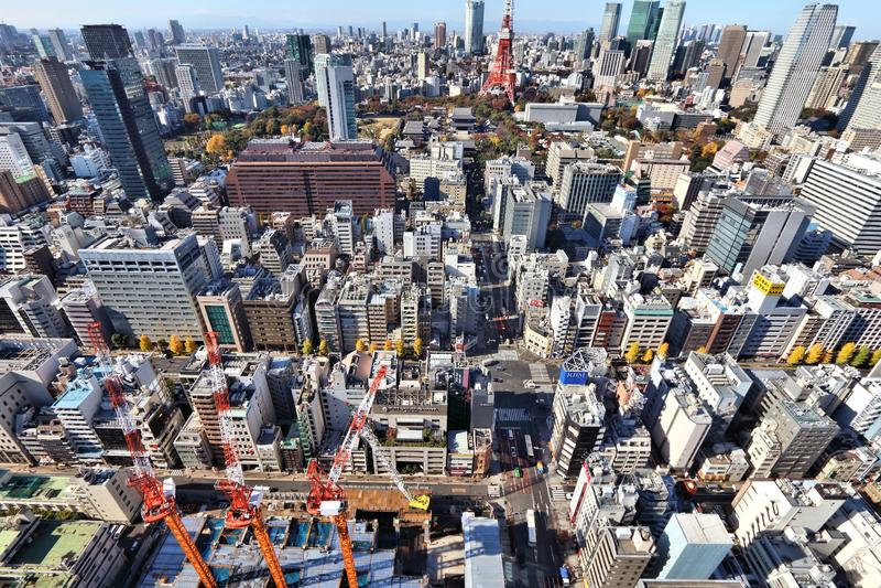 Citt? di Tokyo, Giappone immagine stock