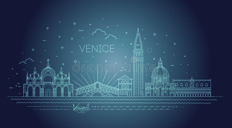 Citt? di Venezia, illustrazione Insieme edifici di Venezia di vettore illustrazione vettoriale