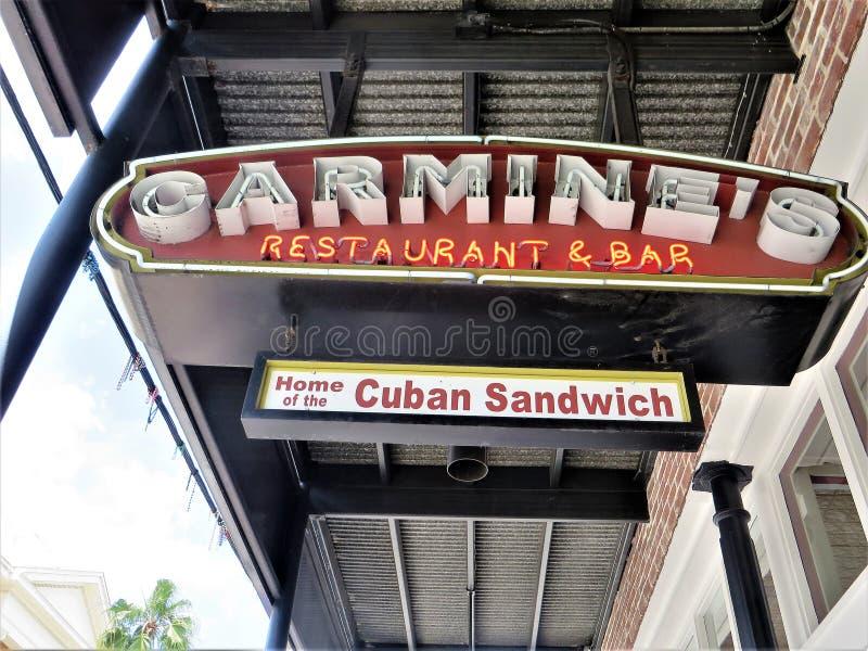 Citt? di Ybor, Tampa, Florida fotografia stock