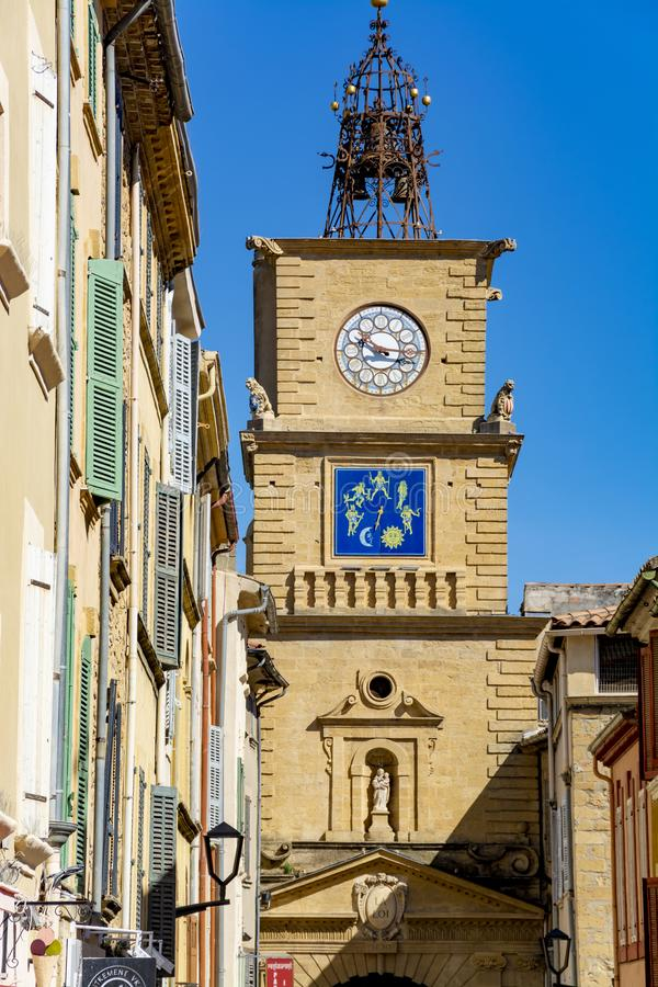 Citt? medievale Salone-en-Provenza di Provencal, a sud della Francia immagini stock