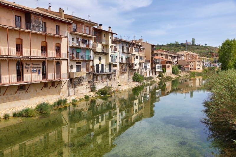 Citt? medievale Valderrobres nell'Aragona, Spagna fotografia stock libera da diritti