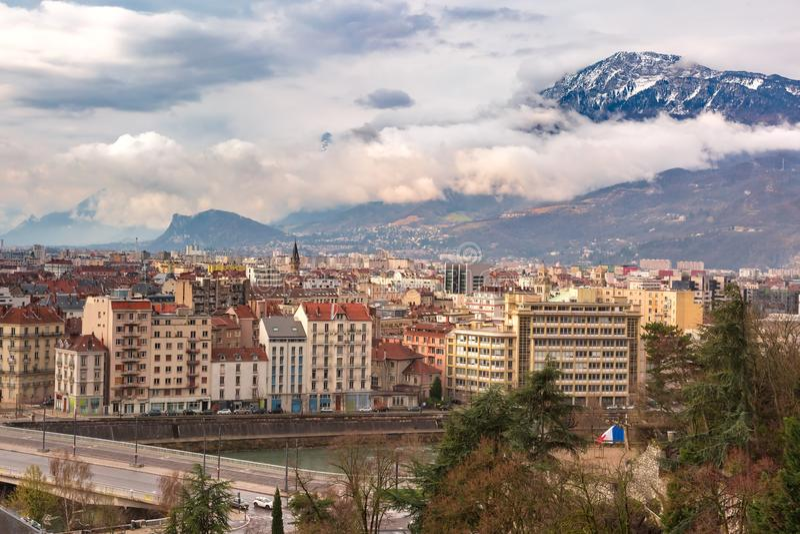 Citt? Vecchia di Grenoble, Francia fotografia stock libera da diritti