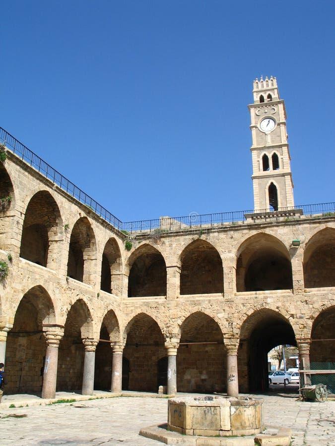 Cittadella in acro, Israele fotografie stock libere da diritti