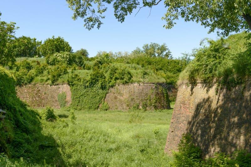 Cittadella befästningar, Alessandria, Italien arkivbild