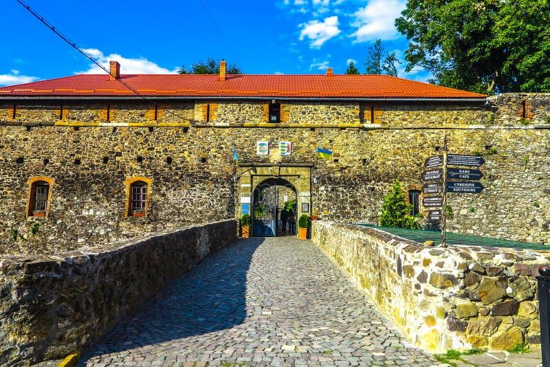 Cittadella 01 del castello di Užhorod fotografia stock