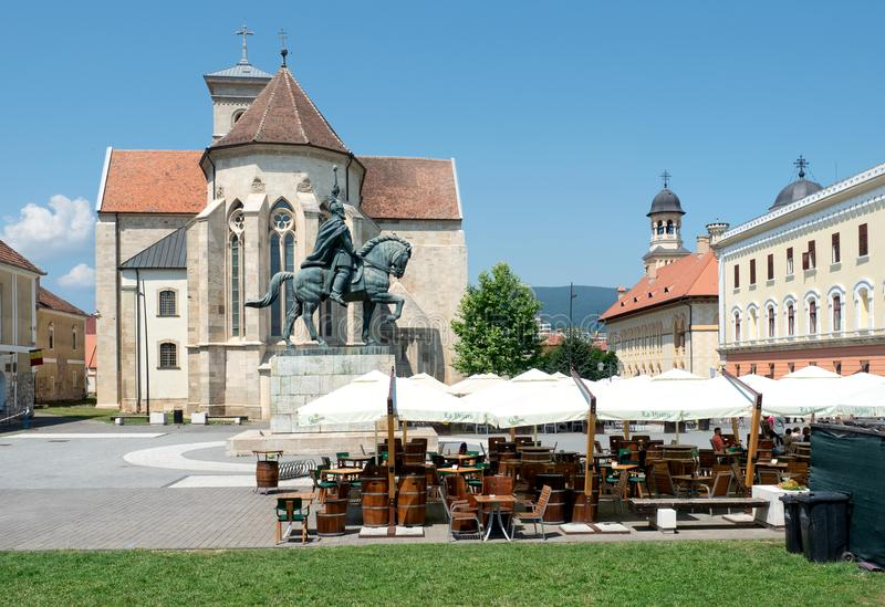 Cittadella della Carolina, Alba Iulia, Romania fotografie stock libere da diritti