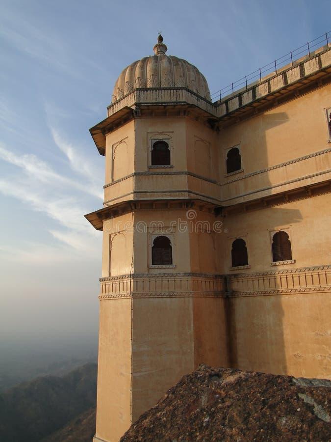 Cittadella della fortificazione di Kumbhalgarh fotografia stock libera da diritti