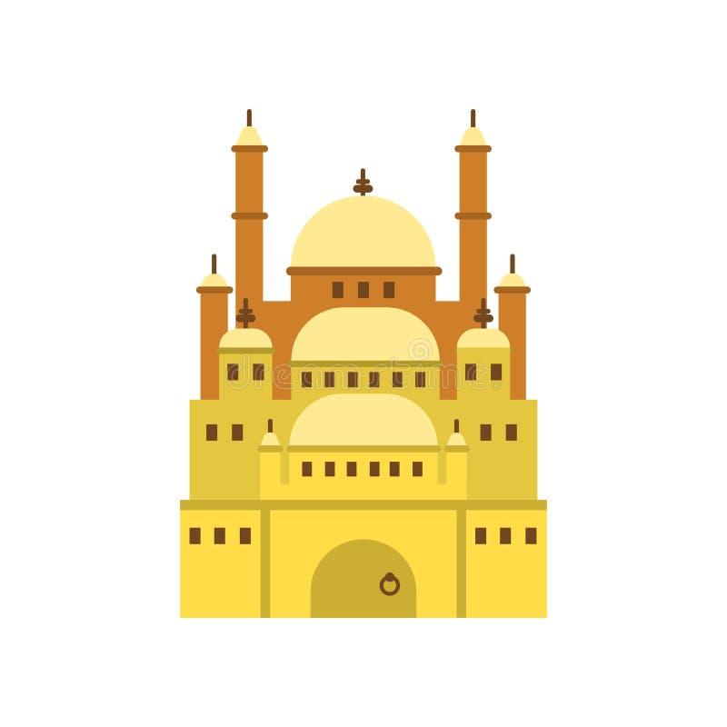 Cittadella di Il Cairo, illustrazione di vettore di simbolo di egitto antico royalty illustrazione gratis