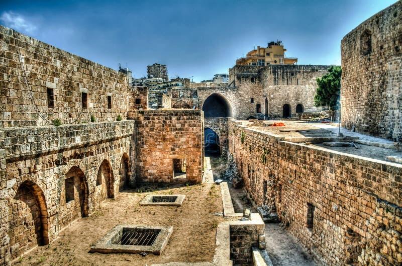 Cittadella di panorama di Raymond de Saint-Gilles, Tripoli, Libano immagine stock libera da diritti