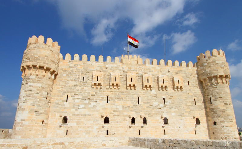 Cittadella di Qaitbay a Alessandria, Egitto fotografia stock
